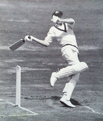 ENGLAND v AUSTRALIA 1961 LORD'S TEST ACTION PHOTOGRAPH
