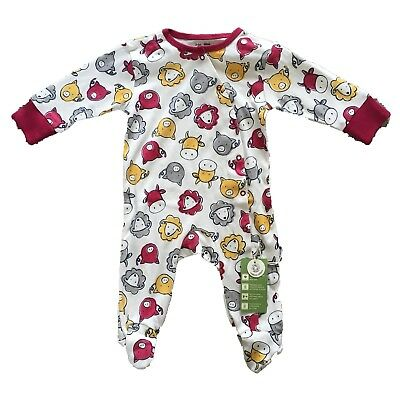 *Kite Clothing* Unisex Red Farmyard Sleepsuit / Babygrow (6-12 Months)RRP £19.00