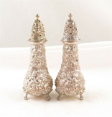 Stieff Rose Sterling Silver Salt & Pepper Shakers #12-Y