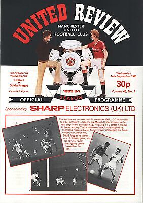 1983/84 Manchester United v Dukla Prague, ECWC, PERFECT CONDITION