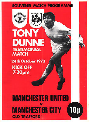 1973/74 Manchester United v Manchester City, Dunne Testimonial - PERFECT