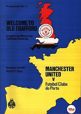 1977/78 Manchester United v Porto - ECWC - PERFECT CONDITION