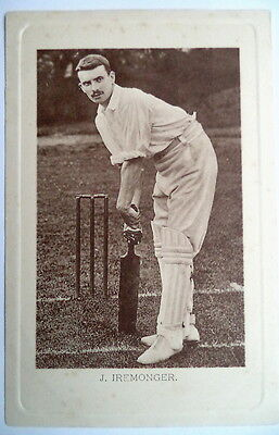 Iremonger James - Notts  Wrench Series Cricket Postcard