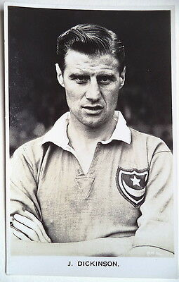 Jimmy Dickinson Portsmouth & Eng 1949-56 Footy Postcard