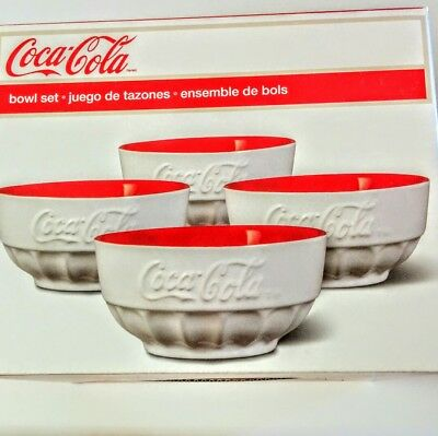 "Coca-Cola Set Of 4 Bowls  5.5""~~Brand New~~~~~~"