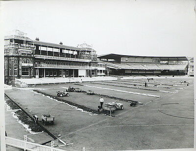LORD'S, 3rd OCTOBER 1964 NEW PITCH DRAINAGE PHOTOGRAPH