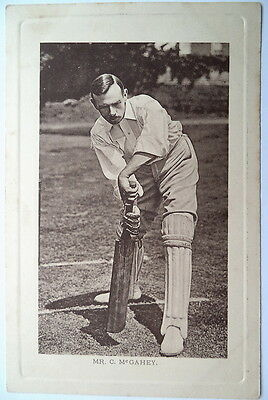 McGAHEY CHARLIE ENGLAND WRENCH SERIES CRICKET POSTCARD
