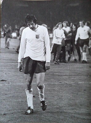 Norman Hunter Leaves The Wembley Pitch 1973 Photograph
