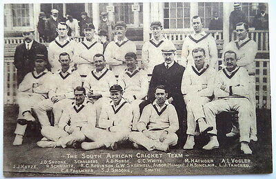 South Africa To England 1907 – Vintage Cricket Postcard
