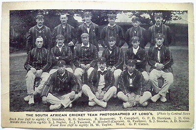 South Africa To England 1912 – Vintage Cricket Postcard