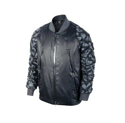 b7d9663cfacd Nike Air Jordan AJ Flight Member Black Camo Mens Bomber Jacket 2XL 706724 -010