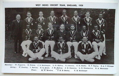 West Indies To England 1939 Photograph Cricket Postcard