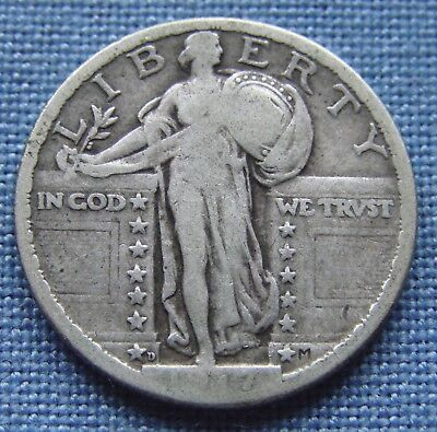 "*nice 1917-D Type 2 ""key Date"" Standing Liberty Quarter  - Estate Fresh*"