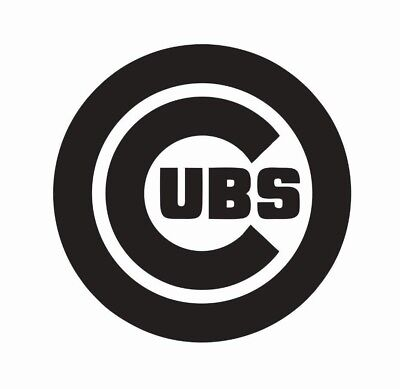 Chicago Cubs MLB Baseball Vinyl Die Cut Car Decal Sticker - FREE SHIPPING