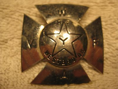 Early Westbrook Vol. Fire Assoc. hat badge