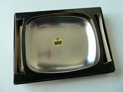 Vintage Retro Boxed Stainless Steel Butter Dish