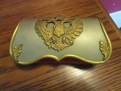 ANTIQUE RUSSIAN Soldier Belt POUCH  two-headed eagle coat of arms[*85]