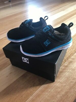 Toddler DC Heathrow Black And Blue Shoes Size 7