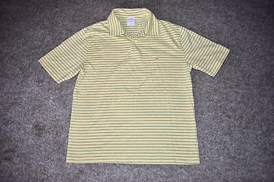 Brooks Brothers 346 Sz Xl Striped S S Polo Shirt Yellow W Sheep