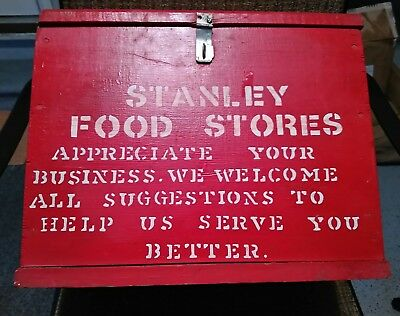 Vintage Stanley Food Stores Suggestion box