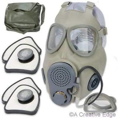 Czech Military M10M NBC Gas Mask w/Asbestos Free Filter, Bag, Drinking Tube NEW!