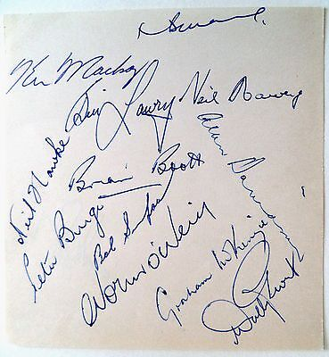 AUSTRALIA v ENGLAND 1963, 5th TEST, SYDNEY CRICKET AUTOGRAPHED ALBUM PAGE