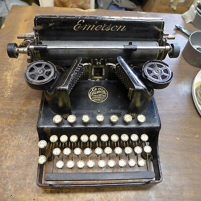 Rare Antique Emerson 3 Typewriter With Three Rows Of Keys And Two Shift Keys