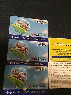 5 Rare vintage Collectible sprint jetsons prepaid calling phone card, Free Ship