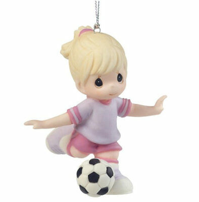 Girl Soccer Precious Moments Ornament Sports Ball You're An All Star NWOB