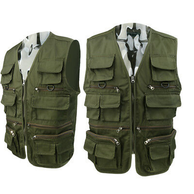 Men Safari Casual Vest Multi Pockets Fishing Hunting Hiking Photo Sport Tops