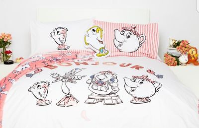 DISNEY CHIP CUP MRS POTTS Duvet Cover Primark SINGLE DOUBLE BEAUTY AND THE BEAST