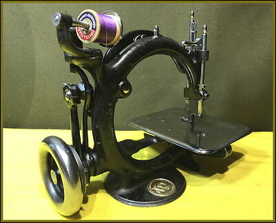 Cute Lil Old Willcox & Gibbs -Rear Base Medallion- Antique Sewing Machine