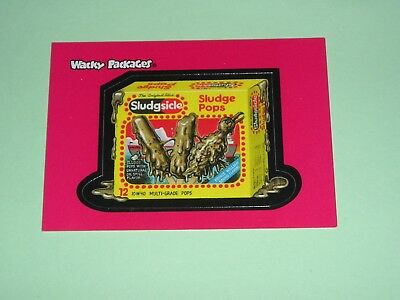 Wacky Packages ALL NEW SERIES 1 PROMO Sticker Sludgesicle   2 of 3 2004