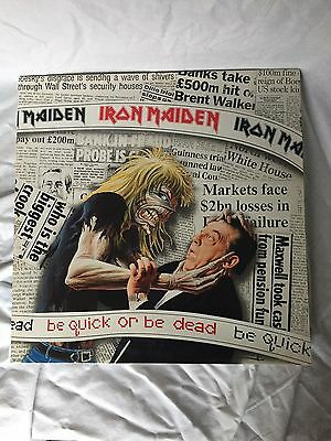 """Iron Maiden -  Be Quick Or Be Dead - 12"""" Gatefold - 12 EMG 229"""