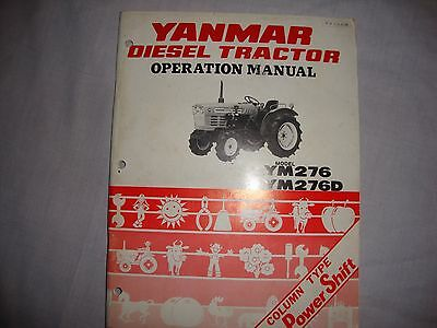 Yanmar Tractor Operation Manual