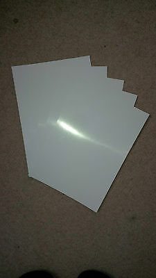 Glossy White Card Covers, A4/A5/A6, quantities of 10 to 500