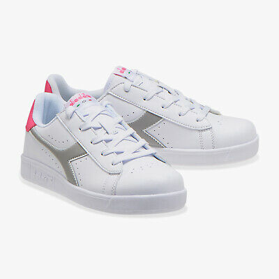 DIADORA SCARPA GAME P GS WHITE PURPLE HEART