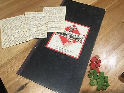Vintage/Early Monopoly Board And Pieces