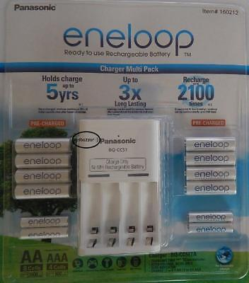 13 Pcs Panasonic Eneloop Ready to use Rechargeable Batteries & Charger 8AA 4AAA