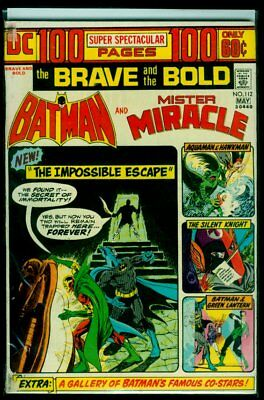 DC Comics The BRAVE And The BOLD #112 BATMAN And Mister Miracle VG/FN 5.0