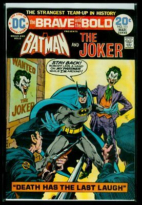 DC Comics The BRAVE And The BOLD #111 BATMAN And The Joker FN/VFN 7.0