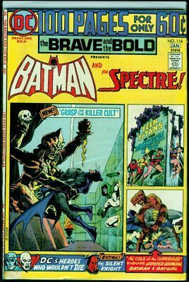 DC Comics The BRAVE And The BOLD #116 BATMAN And The SPECTRE FN 6.0