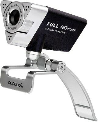 Webcam 1080P FHD, PAPALOOK PA187 Full HD Web Cam With Buit-in Microphone, PC PC