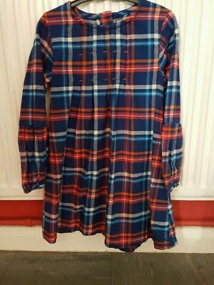 Girls Next Tartan Dress. Aged 5-6 Year's.  Very Good Condition.
