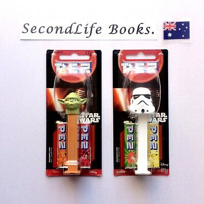 x2 STAR WARS Pez ~ Yoda Storm Trooper. NEW IN PACKAGE. SecondLife Games.