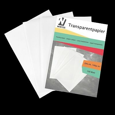 WINTEX Premium A4 Tracing Paper Pack Of 100 Sheets With 100g For Tracing And |