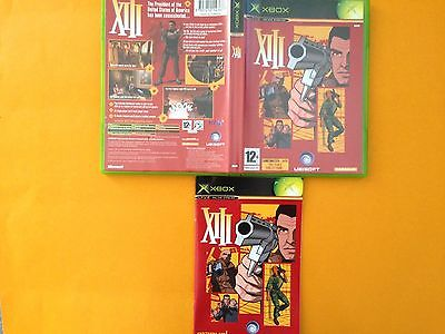 Xbox VIII, 13 2003 Shooter game, box and manual only, English