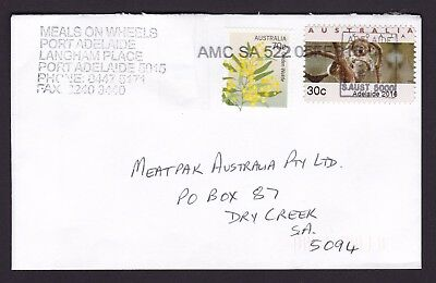 Adelaide 2016 Emergency Issue 30 cent stamp on commercially used cover
