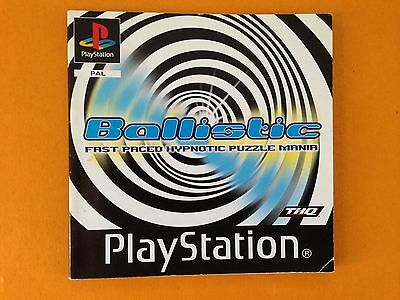 Ballistic PS1, THQ, manual only, in great conditon. Multi languages