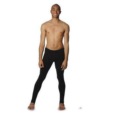 Boys - Men's Black cotton / Lycra Stirrup Leggins -  Dance BStirrup Tights